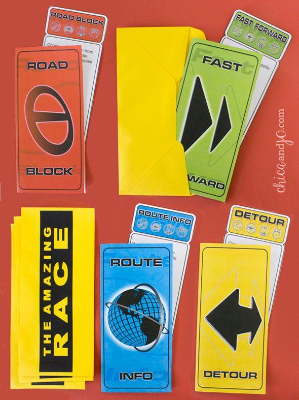 Amazing Race printable clues and folders