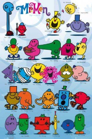 Mr Men and Little Miss #mr giggles is somewhere in that picture#LOVE HIM!!!!!!!!