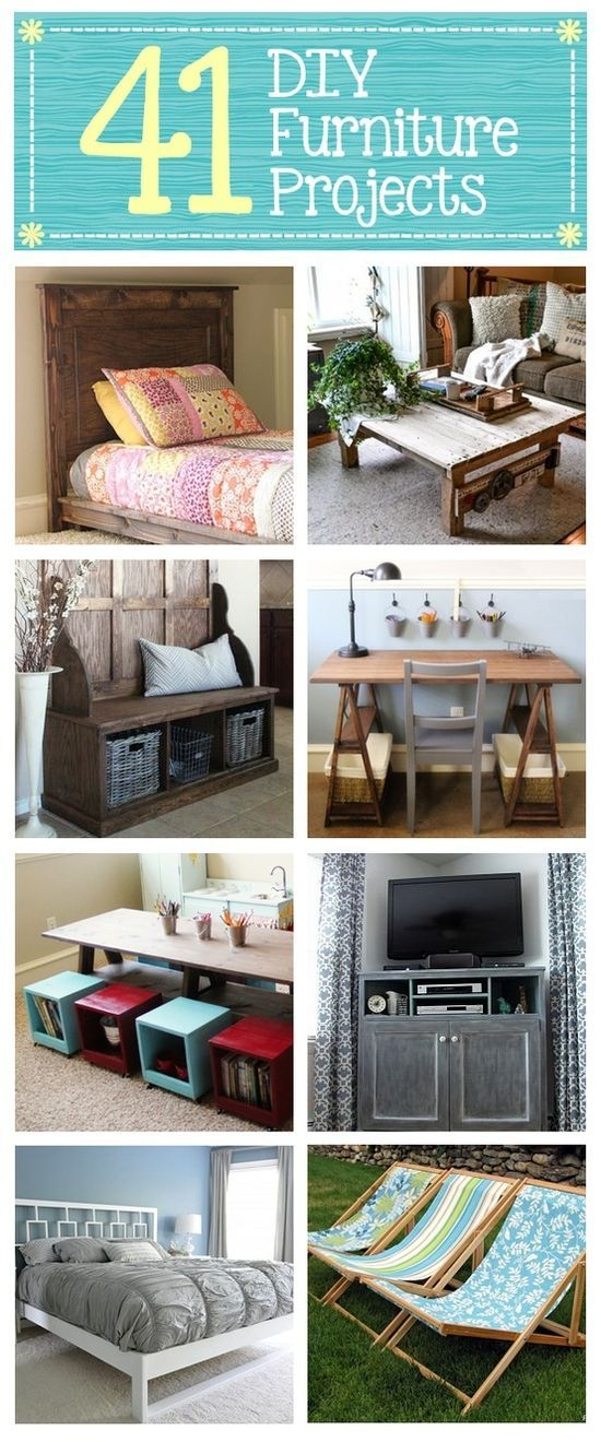 41 DIY Furniture Projects — Build your own furniture from scratch #crafts