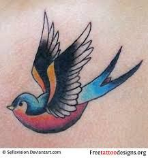 Image result for american traditional swallow tattoo