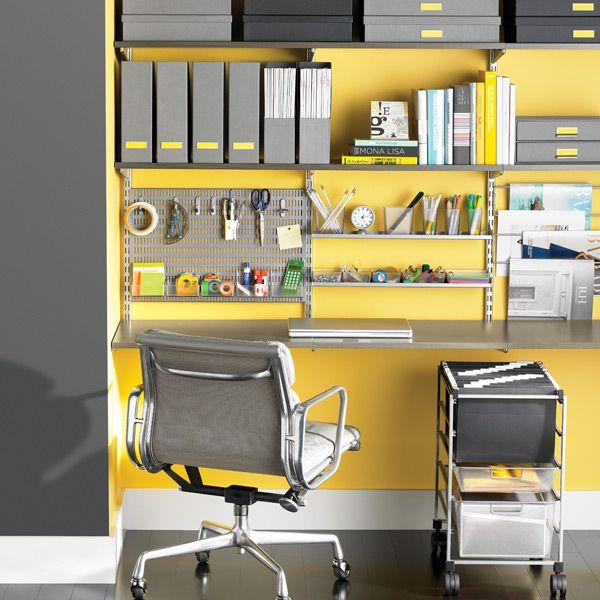 Driftwood U0026 Platinum Elfa Deluxe Home Office