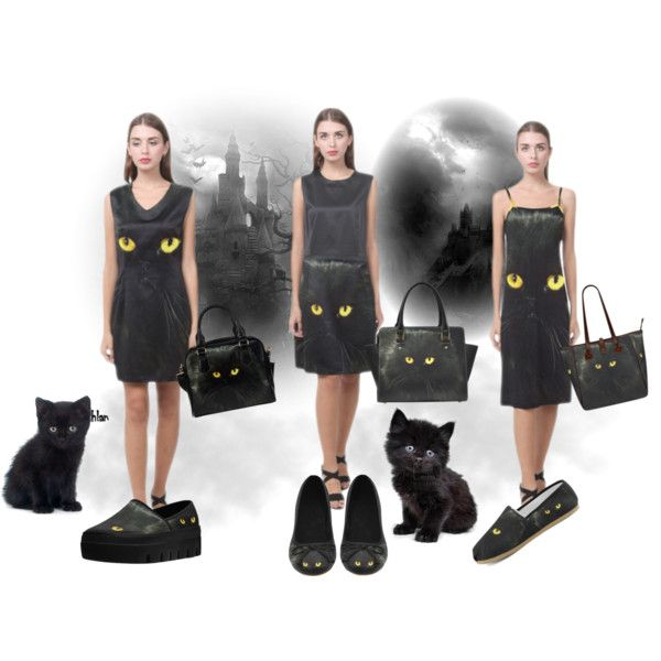 Black cat dresses, shoulder handbags, tote, shoes. FREE Shipping. 20% Off. Buy on http://www.artsadd.com/store/erikakaisersot?rf=11001