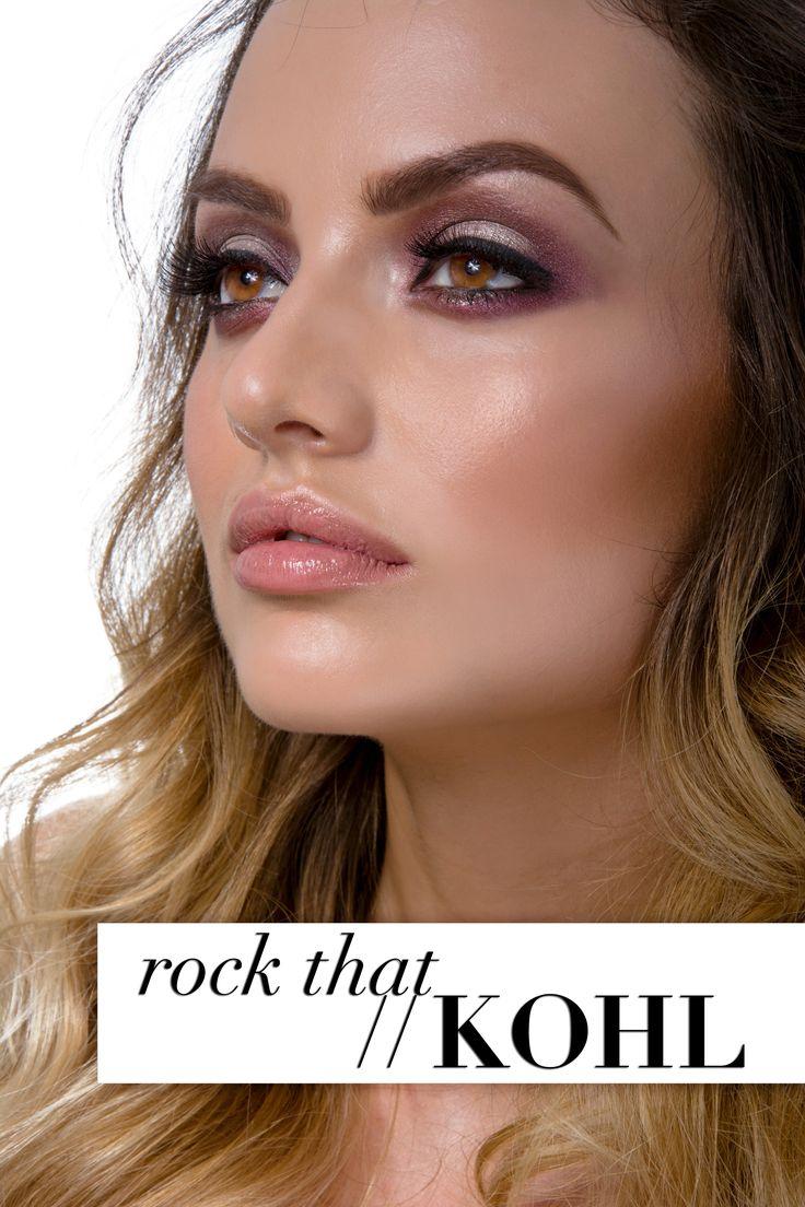rock and kohl rocking smokey eye makeup look