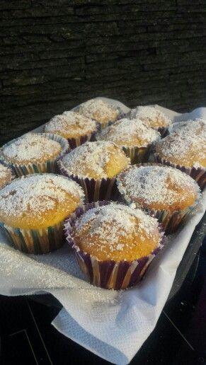 muffin vaniglia e gocce di cioccolato bianco