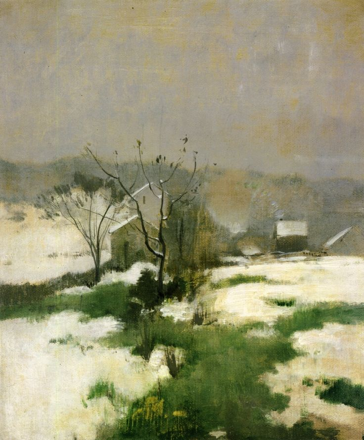 """An Early Winter,"" John Henry Twachtman, c.1882"