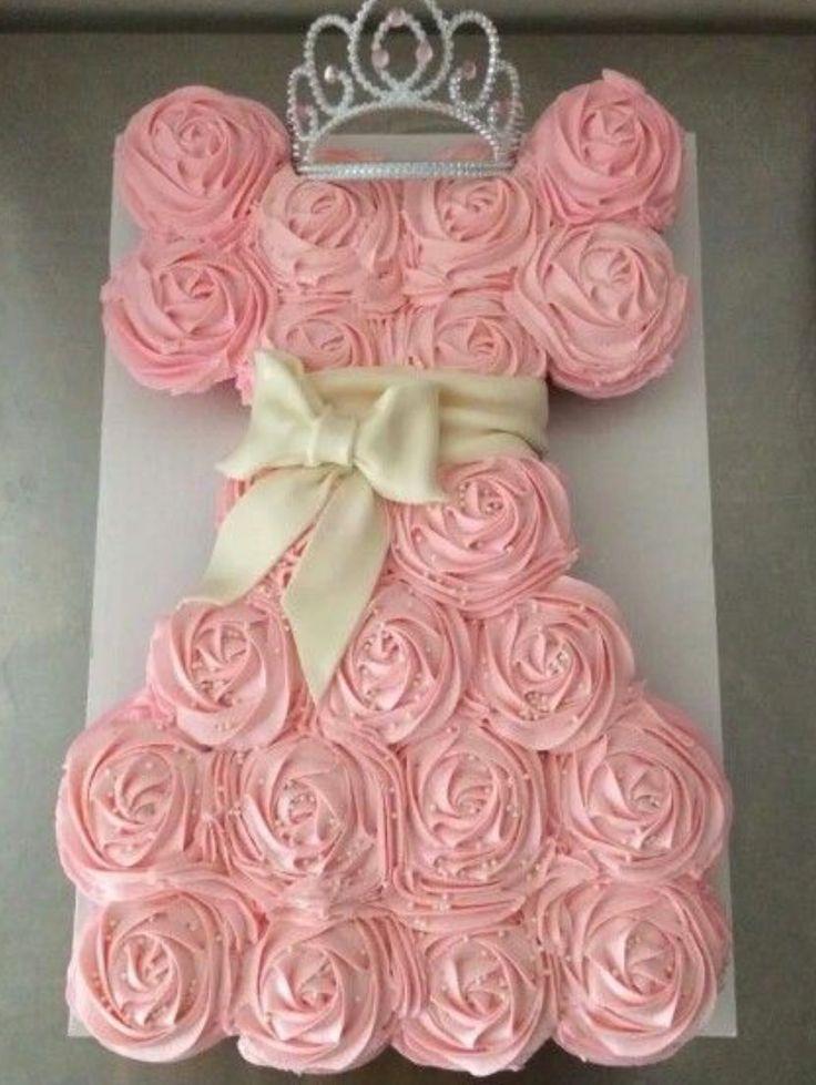 Pull apart cupcake cake (cupcake cookies birthday)