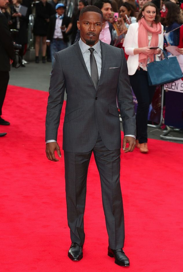 """Jamie Foxx Wears Ozwald Boateng Suit and Gucci Shoes at """"The Amazing Spider-Man 2″ Premiere 