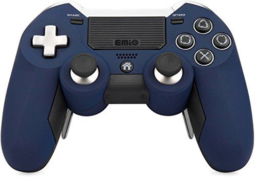 [2017 Emio Newest Version PS4 Controller], Wireless Controller for PlayStation 4 PS4 - Blue:   High quality skin for PS4 controllers. Improve the looks of your controller and enhance gaming perf hands.   The Wireless Controller features familiar controls, and incorporates several innovative features to usher in a new era of interactive experiences. Make your gaming experience more enjoyable and give yourself and edge over your opponents with this custom controller for the Playstation 4...