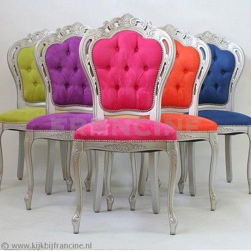 Eetstoel rosa zilver fuchsia of ontwerp het zelf stoelen only poufs and pillows - Pouf eigentijds ontwerp ...