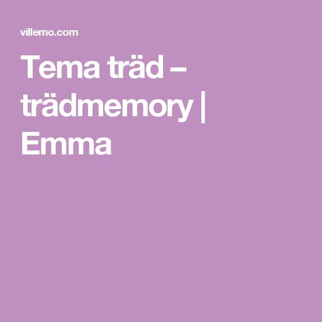 Tema träd – trädmemory   Emma