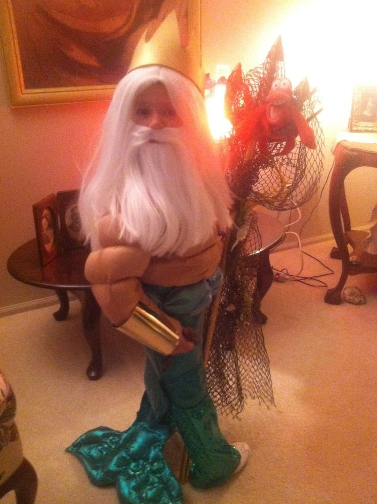 """Christians """"King Triton"""" costume for 4th Halloween"""