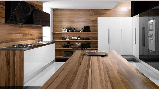 Ultra Modern Kitchen Designs from Tecnocucina Love the use of all cabinets and open shelf space for electronics