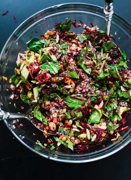 Colorful beet salad recipe (so good for you!) - cookieandkate.com