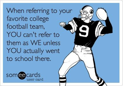 Favorite college #football team.