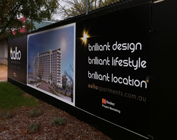Aalto Apartments - Brilliant Design, Brilliant Lifestyle, Brilliant Location- signage design & development
