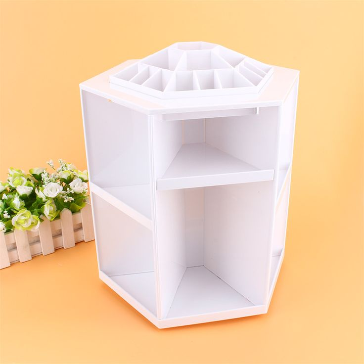 1Pcs 360 DEGREE ROTATING COSMETIC ORGANIZER MAKE UP BOX BRUSH HOLDER CLEANUP DISPLAY