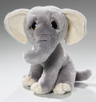 Elefant Baby sitzend mit großen Augen   Plüschtiere, Kuscheltiere und Stofftiere…