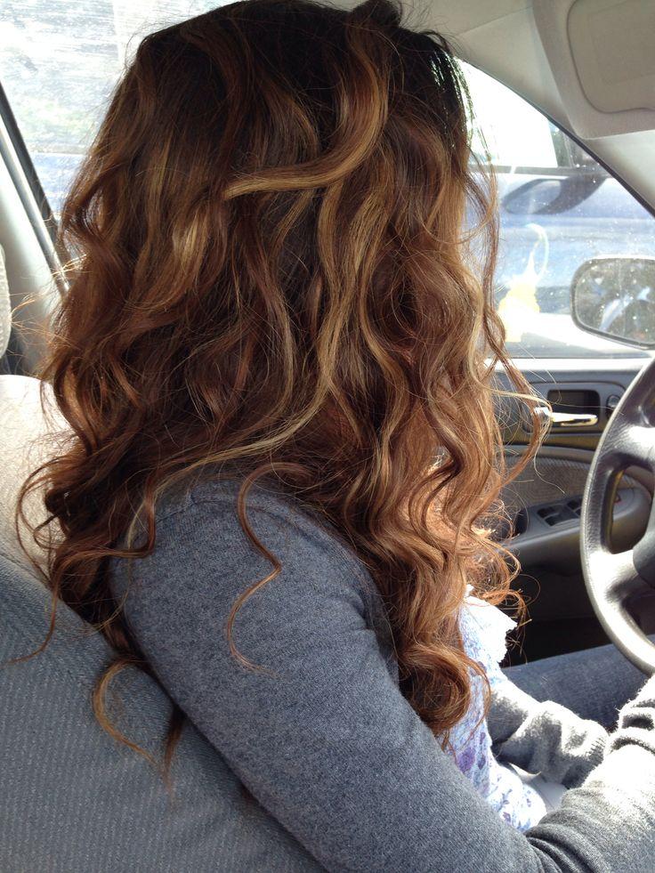 Brunette With Blonde Highlights Hair Pinterest
