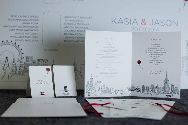 Indywidualna poligrafia ślubna dostosowana do stylistyki zaproszenia: daa.pl/hy5D