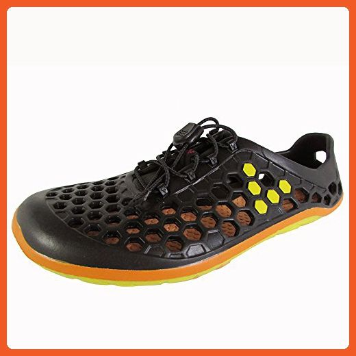 Vivobarefoot Womens Ultra II L Water Sport Shoes, Black/Yellow, 39 EU / 8 US - Athletic shoes for women (*Amazon Partner-Link)