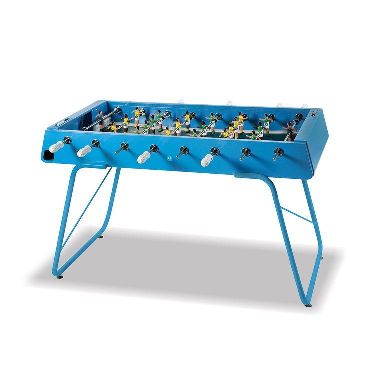 Steel Outdoor Foosball Table in Blue   Thos. Baker