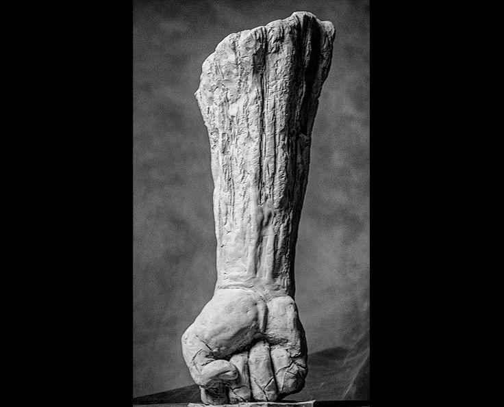 Michal Jackowski, SELF DESTRUCTIVE, terracota, 2016  #sculptures #body #power #artact #humans #antique #pinart #creative #passion #love #art #classic #hand #exhibition #polishart #white #hard