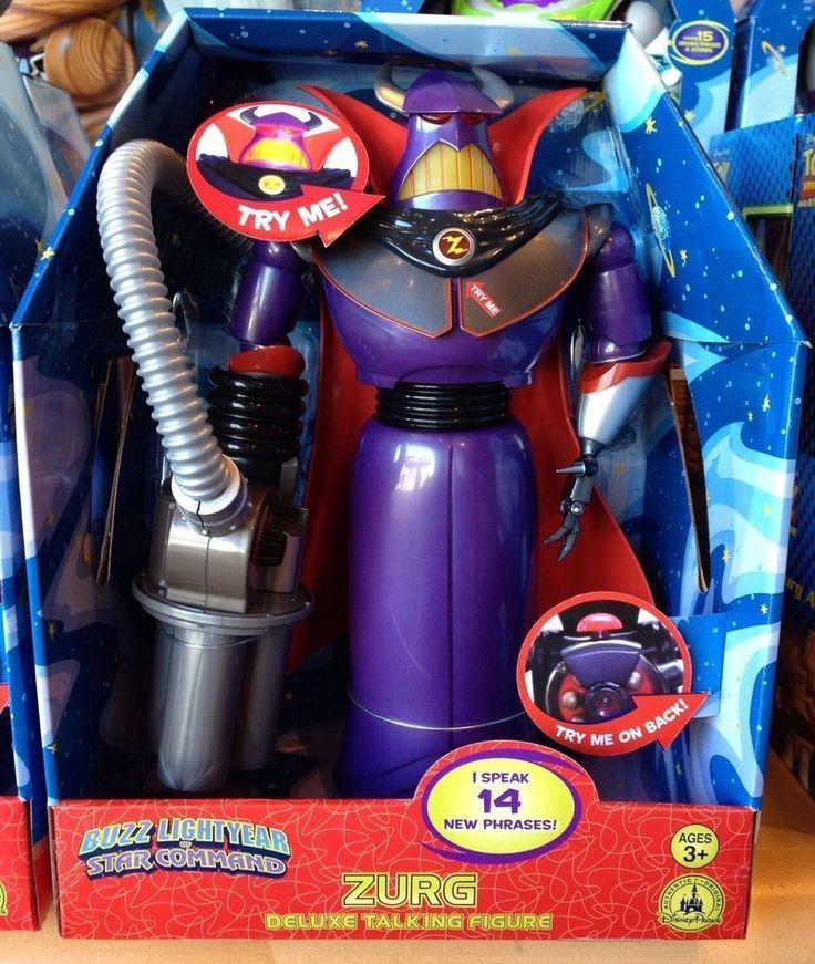 Disney Store Emperor Zurg Talking Action Figure 15'' Toy Story 14 Phrases NIB #Disney