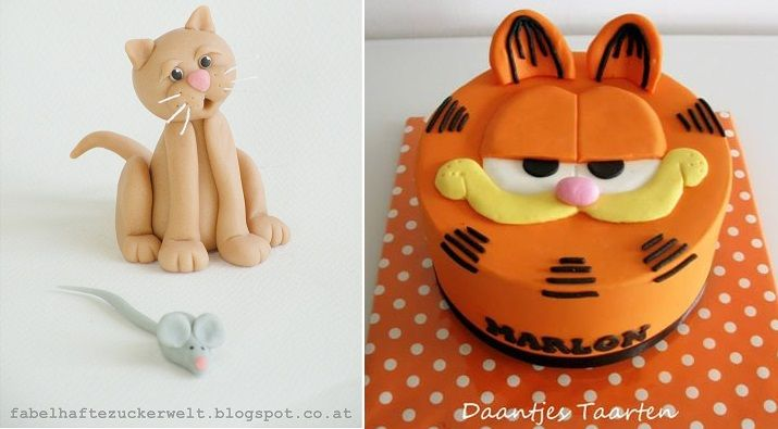 How To Make A Garfield Cake Step By Step