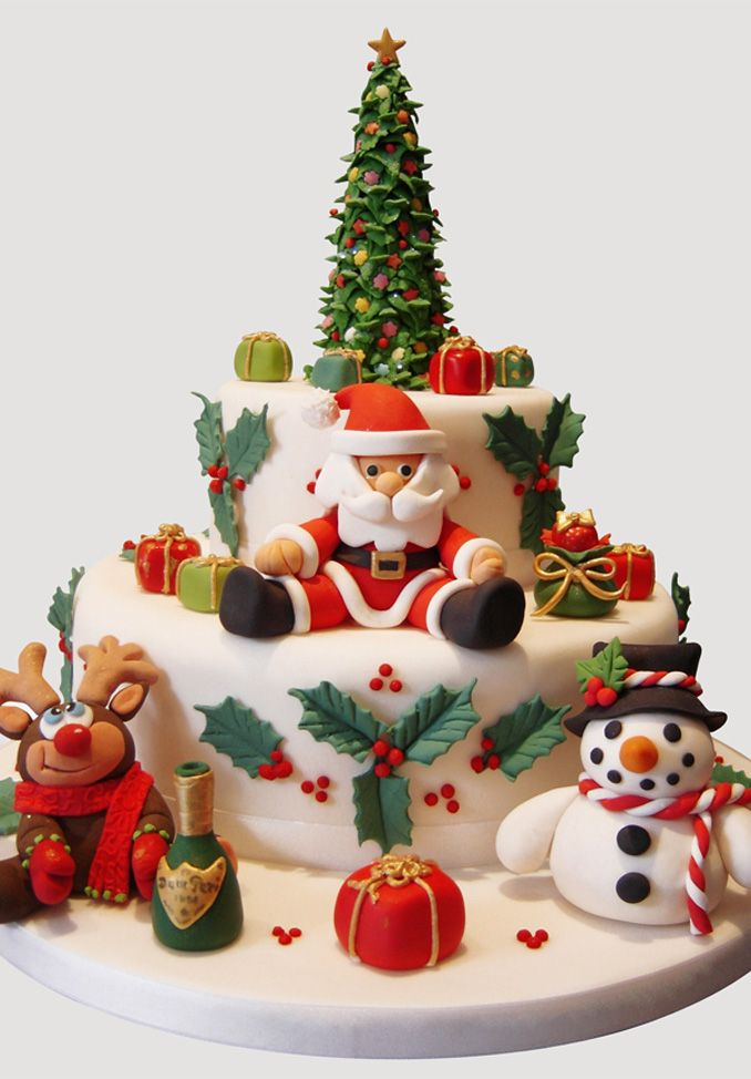 104 best christmas cake decoration images on pinterest for Christmas decoration 94