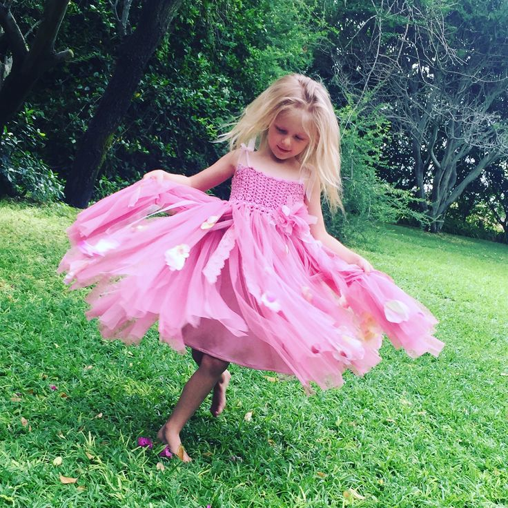 Beautiful Flowergirl dresses. Unique, handmade, crochet tutu tulle dress. Pink flowergirl dresses for Brides to be. Moments with Mom Clothing. South African online clothing store.  #wedding #brides #flowergirl #ootd