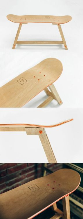 """""""The Wood one"""" - Skateboard Furniture by Baked / Roast."""
