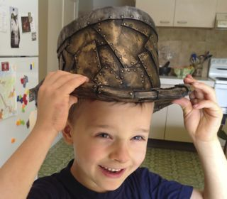 How to make a steampunk top hat from craft foam. Easy and comfortable.