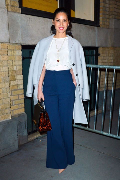 Try a simple 70s inspired look like Olivia Munn: