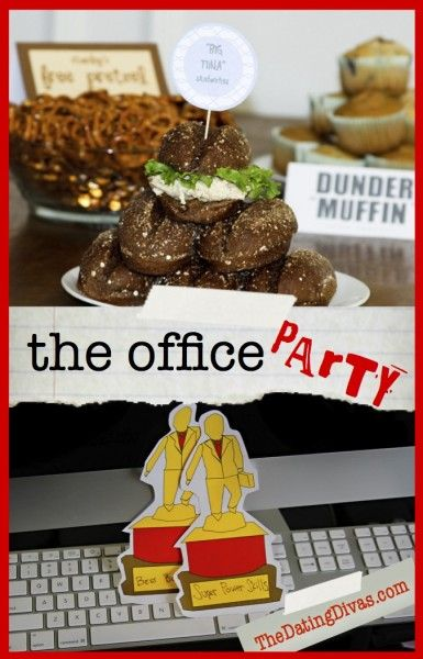 The Office PARTY with great ideas and FREE printables! www.TheDatingDivas.com #TheOffice #FreeDate #FreePrintable