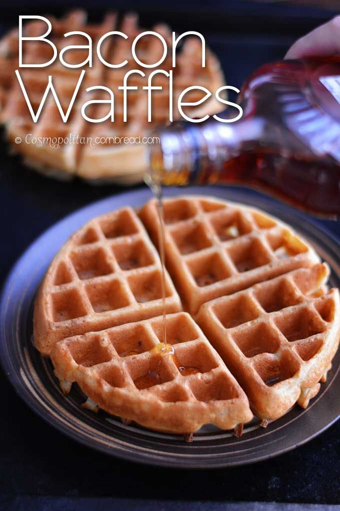 How to make delicious Bacon Waffles from Cosmopolitan  Cornbread #SundaySupper
