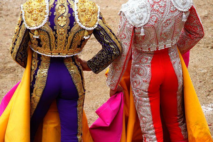A bullfighter in a festival.