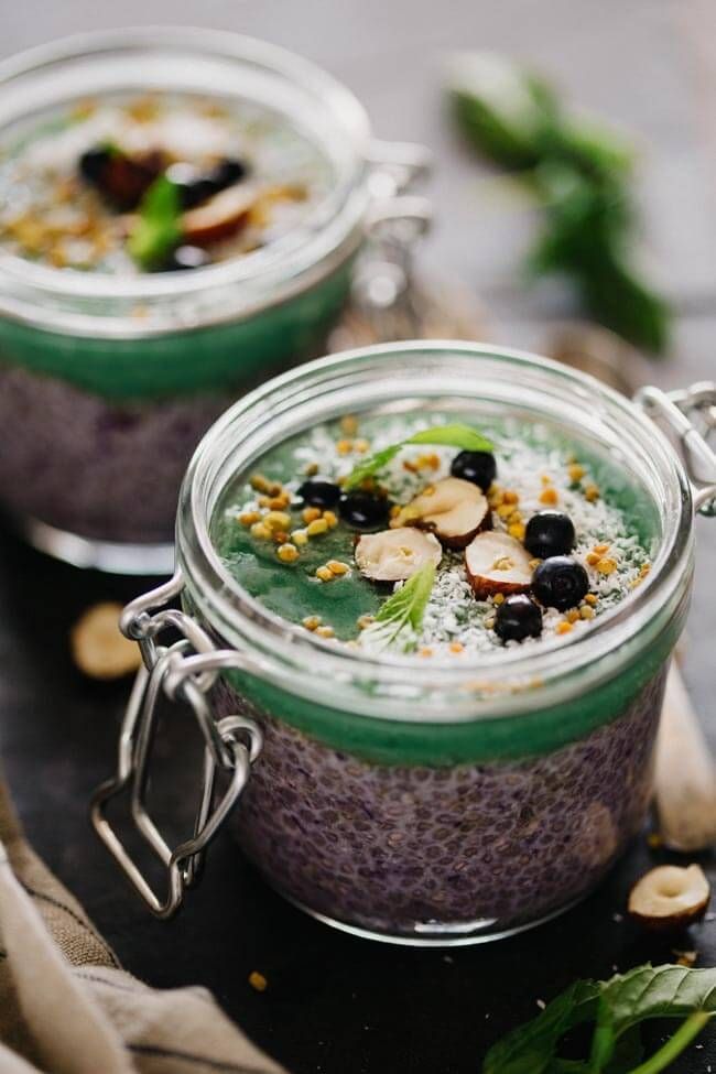 Superfood Chia Pudding (sub coconut sugar for agave)
