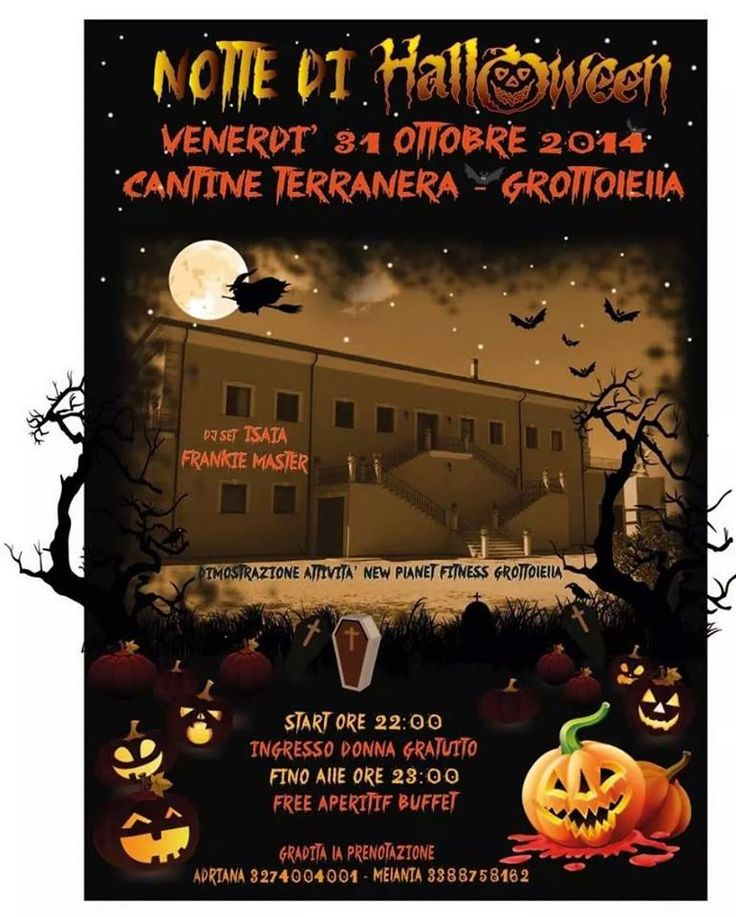 Halloween Party 31 ottobre 2014 start ore 22- Cantine Terranera - Tel 0825.671455  Cell 338 875 8162 info@cantineterranera.it