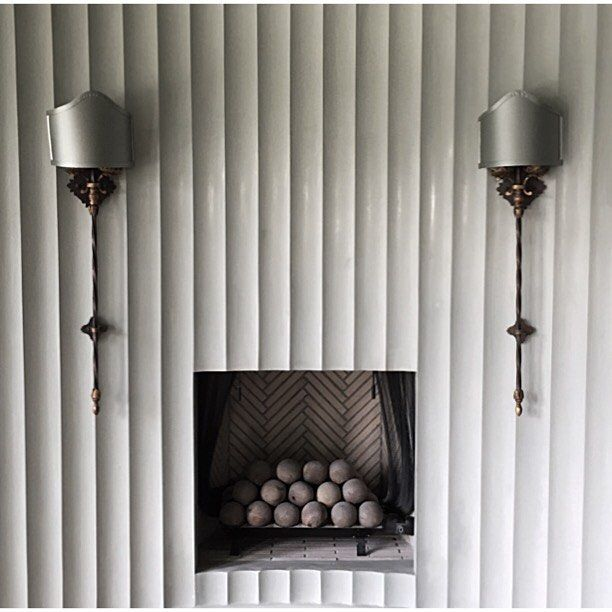 Fluted Plaster Wall