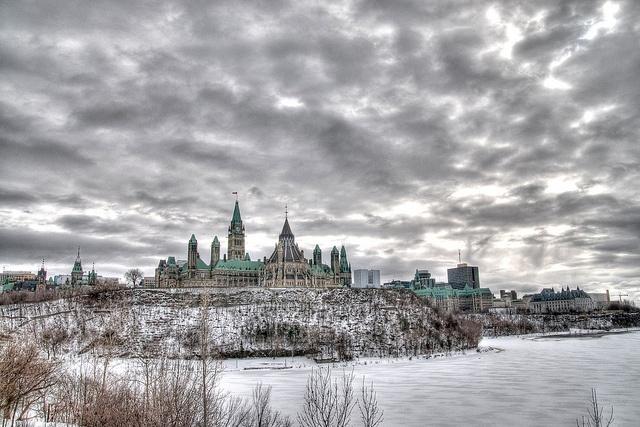 Parliament Hill in the winter (Ottawa, Canada)