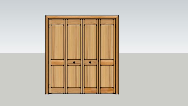 Large preview of 3D Model of Closed Bifold Doors