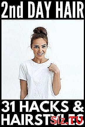 31 Second Day Hairstyles Hacks  038  Products    T #Braids #Buns #Chic #classpintag #Curly