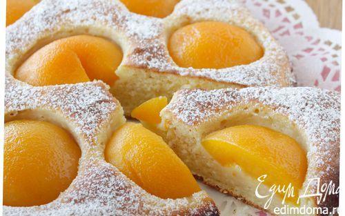 Пирог с рикоттой и персиками  | Кулинарные рецепты от «Едим дома!»