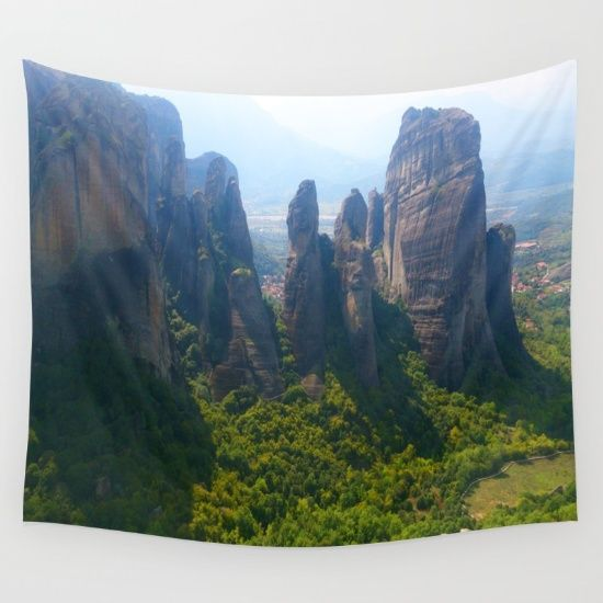 #kids #painting #greece #crystals #floweroflife #yoga #meditation #secret #society6 #colorful #shopping #sales #love https://society6.com/product/meditation-up-to-meteora--greece--nature-t6w_tapestry