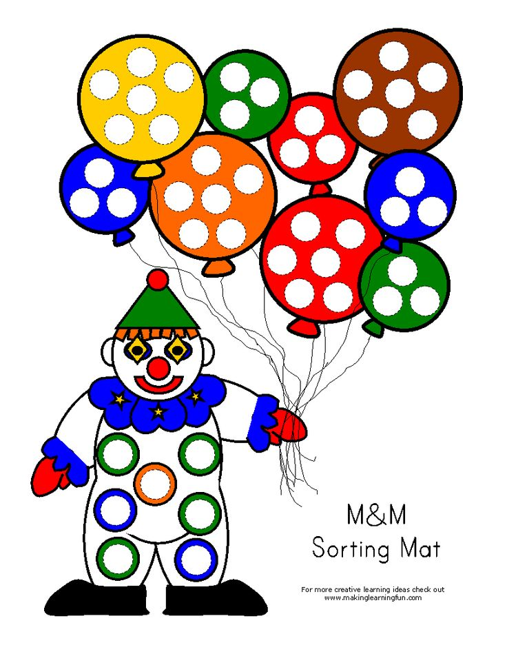 Color sorting activity...use M's/skittles/etc. Great activity for preschoolers!