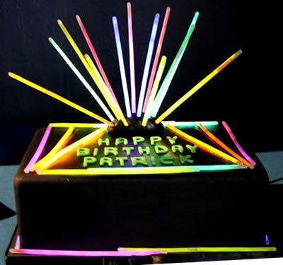 Glow Party Birthday Cake! Use Glow Sticks! https://glowproducts.com/