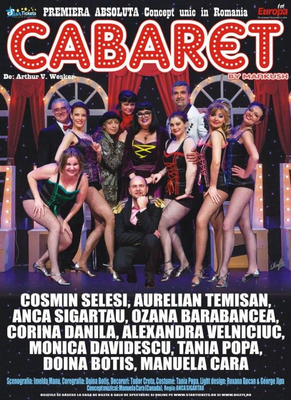 "In premiera la Iasi, ""Cabaret"" de Arthur V. Wesker"