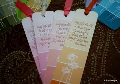 Book marks from paint samples