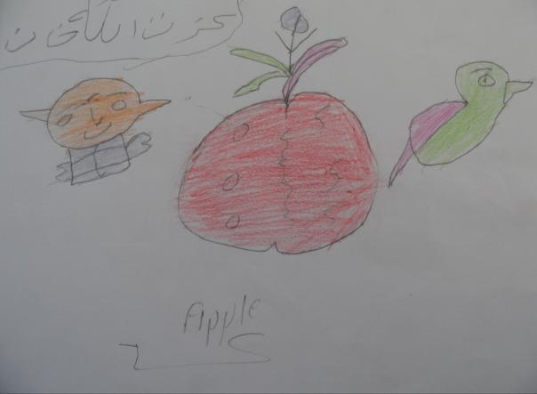 Ismatullah Delbar Khan, tento chalan má 17 rokov, názov obrázka - Jablko