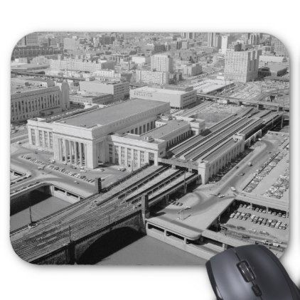 Pennsylvania Railroad 30th Street Station Mouse Pad - vintage gifts retro ideas cyo